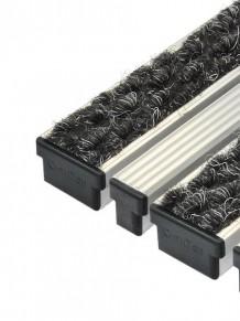 Алюминиевые решетки Брайт текстиль + скребок