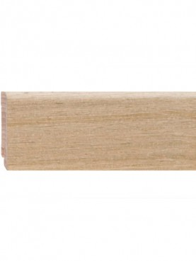 Плинтус шпонированный 60*16мм Oak Ivory